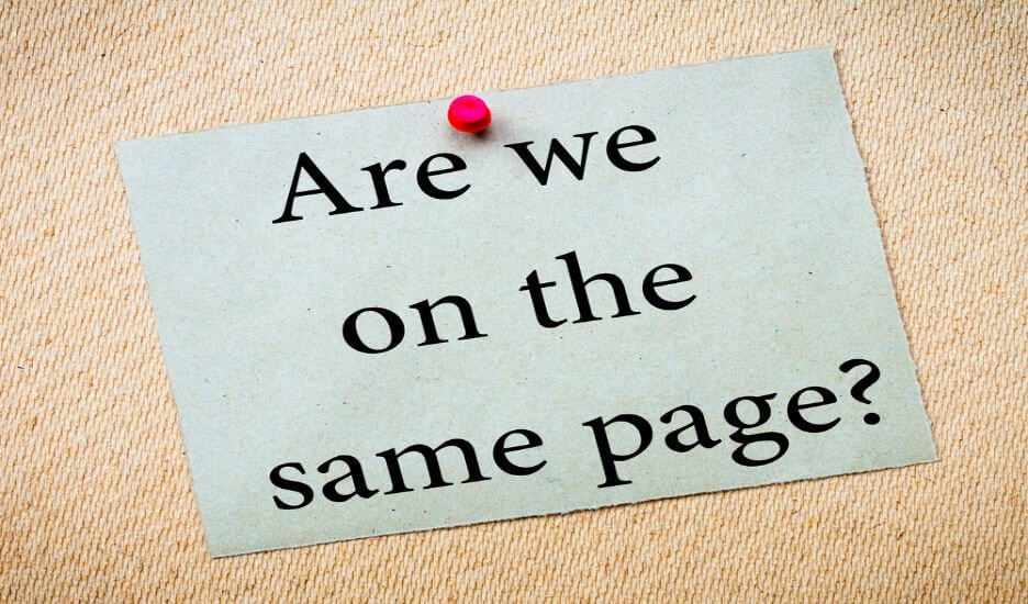 What to do when you and your partner are NOT on the same page?